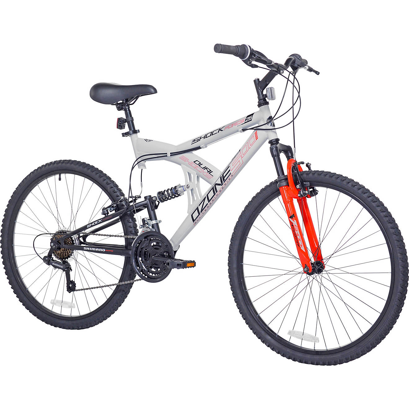 Ozone 500 Men's Shock Force 26 in 21-Speed Full Suspension Mountain Bike