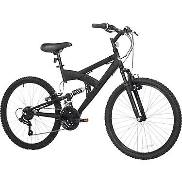 Ozone 500 Boys' Shock Force 24 in 21-Speed Full Suspension Mountain Bike