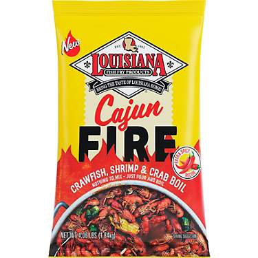 Louisiana Fish Fry Products Cajun Fire Boil Seasoning