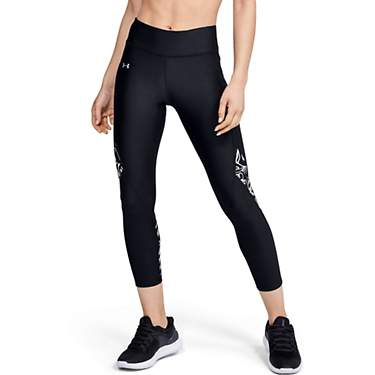 Under Armour Women's HeatGear Armour Printed Ankle Crop Leggings