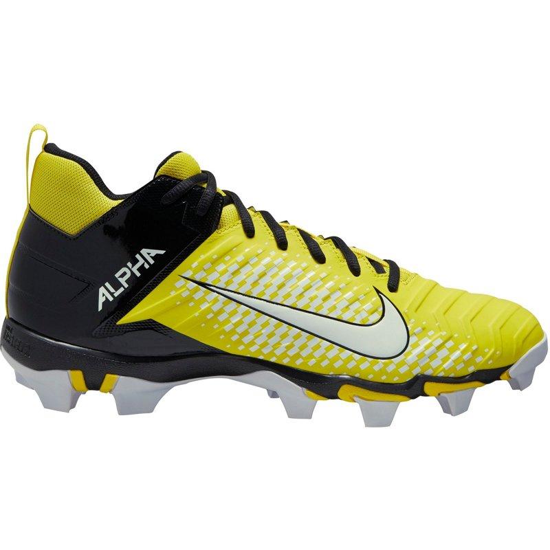 Nike Men's Alpha Menace 2 Shark Football Cleats Yellow/Black, 9.5 - Football at Academy Sports