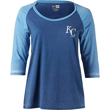 New Era Women's Kansas City Royals Burnout Wash Plus Size Jersey