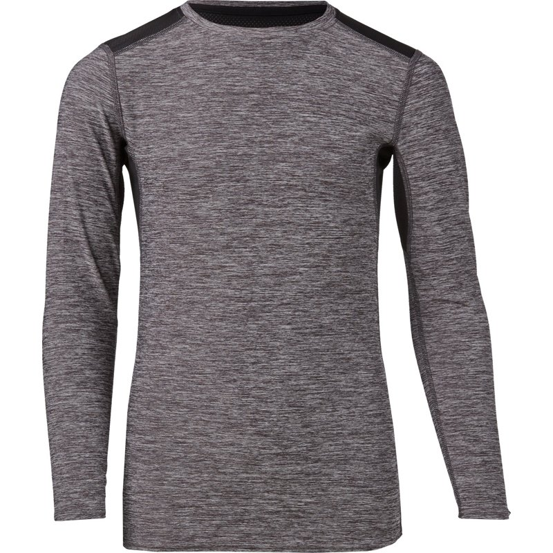 BCG Boys' Sport Melange Compression Base Layer Top Black, Small - Boy's Athletic Tops at Academy Sports thumbnail