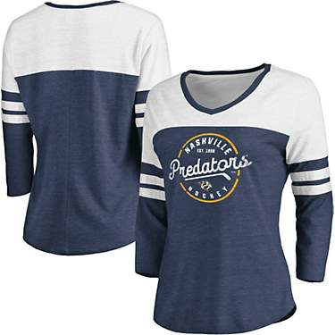 Nashville Predators Women's True Classic Home 3/4 Sleeve T-shirt