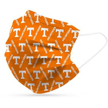 Logo University of Tennessee Disposable Face Masks 6-Pack
