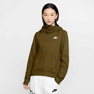 Nike Women's Nike Sportswear Funnel-Neck Club Fleece Hoodie Sweatshirt