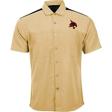Antigua Men's Texas State University Angler Woven Button Down Shirt