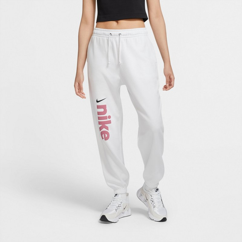 Mancha ropa Regeneración  Nike Women's Sportswear Fleece BB Varsity Jogger Pants White, X-Small -  Women's Athletic Fleece at Academy Sports | SportSpyder