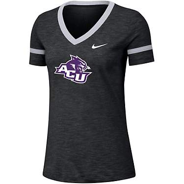 Nike Women's Abilene Christian University Dri-FIT Slub V-neck T-shirt