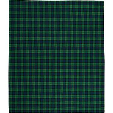 American Traditions Black Watch Plaid Fleece Throw