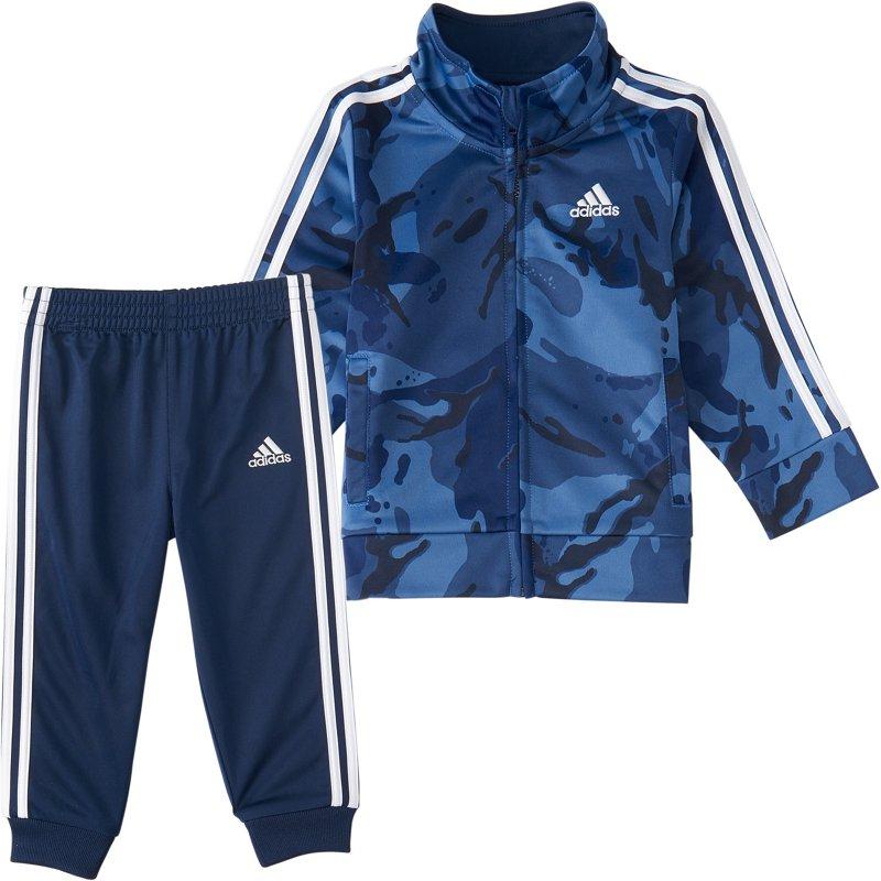 adidas Boys' 4-7 Camo Event Tricot Jacket and Jogger Pants Set Blue, 6 Youth - Boy's Fleece at Academy Sports thumbnail