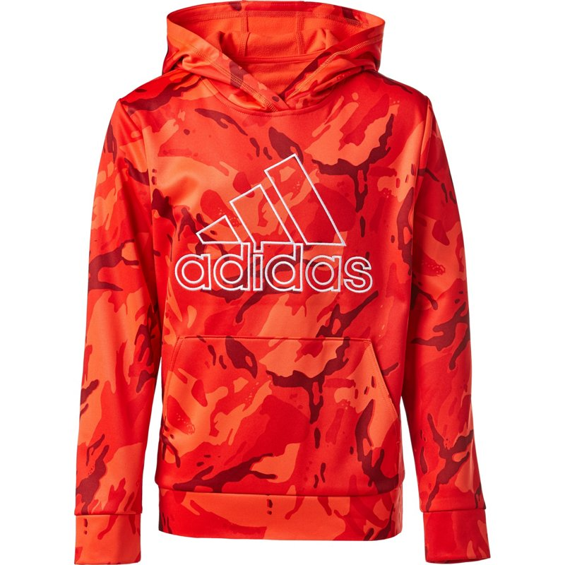 adidas Boys Camo Pullover Hoodie Red, Small - Boy's Fleece at Academy Sports thumbnail