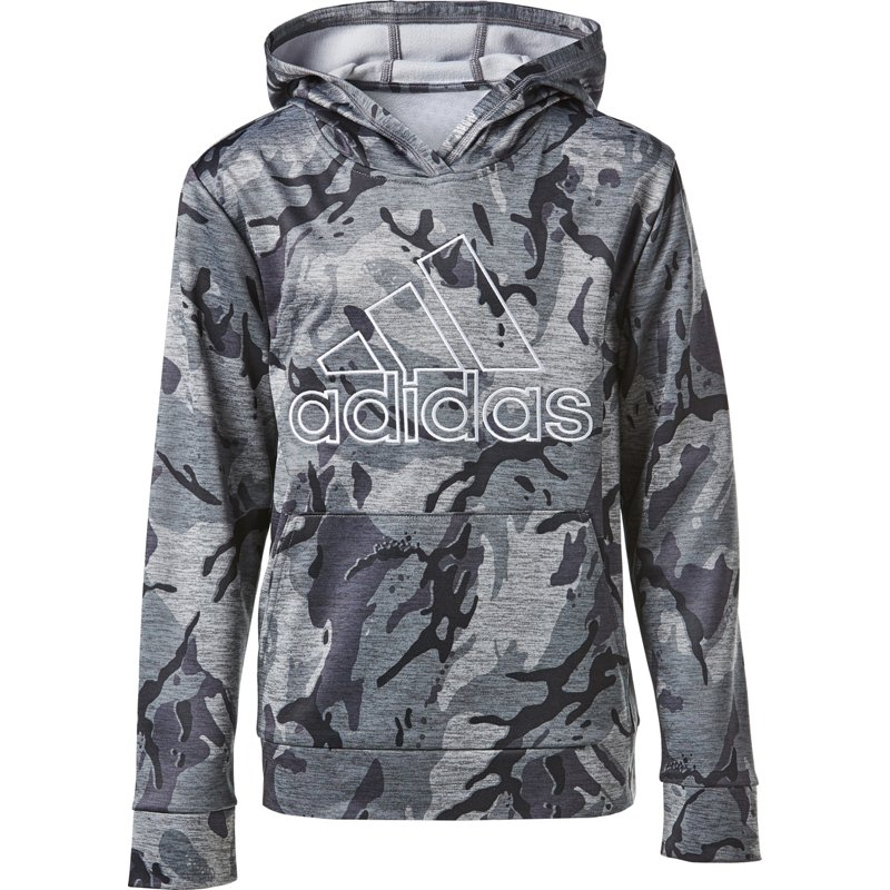adidas Boys Camo Pullover Hoodie Gray, Small - Boy's Fleece at Academy Sports thumbnail