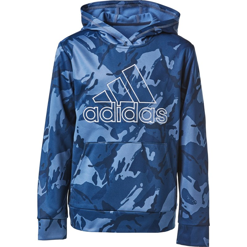 adidas Boys Camo Pullover Hoodie Navy Blue, X-Large - Boy's Fleece at Academy Sports thumbnail