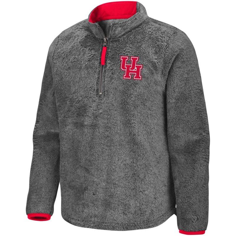 Colosseum Athletics Girls' University of Houston Puffer Fish 1/2 Zip Pullover Gray, Medium – NCAA Men's Fleece/Jackets at Academy Sports