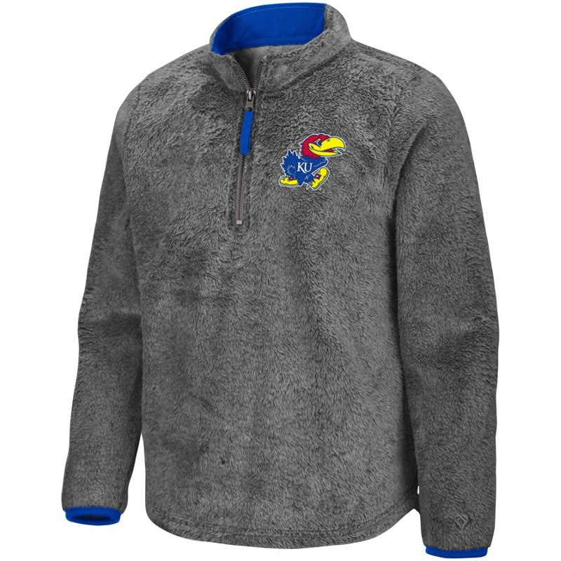 Colosseum Athletics Girls' University of Kansas Puffer Fish 1/2 Zip Pullover Gray, Small – NCAA Men's Fleece/Jackets at Academy Sports