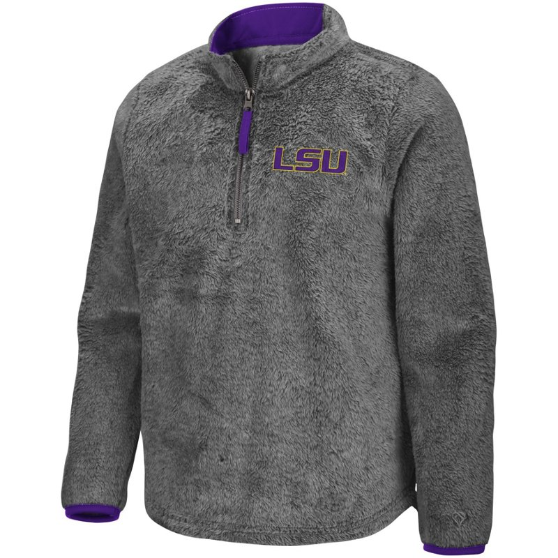 Colosseum Athletics Girls' Louisiana State University Puffer Fish 1/2 Zip Pullover Gray, Large – NCAA Men's Fleece/Jackets at Academy Sports