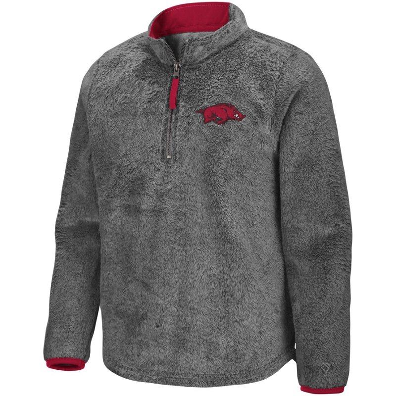 Colosseum Athletics Girls' University of Arkansas Puffer Fish 1/2 Zip Pullover Gray, Medium – NCAA Men's Fleece/Jackets at Academy Sports