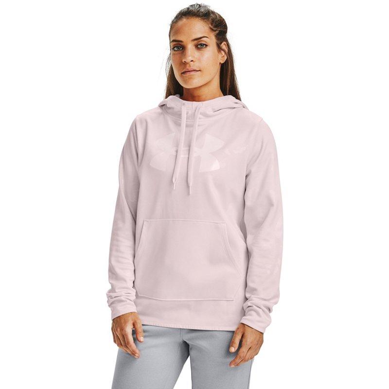 Under Armour Women's Armour Fleece Big Logo Camo Shine Hoodie Red Light, X-Small – Women's Athletic Fleece at Academy Sports