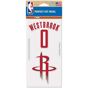 WinCraft Houston Rockets James Harden Perfect Cut Decals 2-Pack