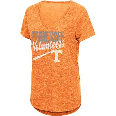 Colosseum Athletics Women's University of Tennessee NOW Speckle Yarn Team Mascot T-shirt