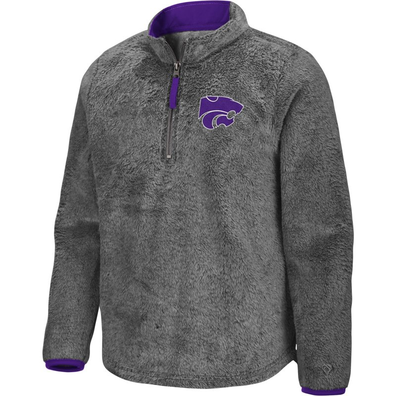 Colosseum Athletics Girls' Kansas State University Puffer Fish 1/2 Zip Pullover Gray, Large – NCAA Men's Fleece/Jackets at Academy Sports