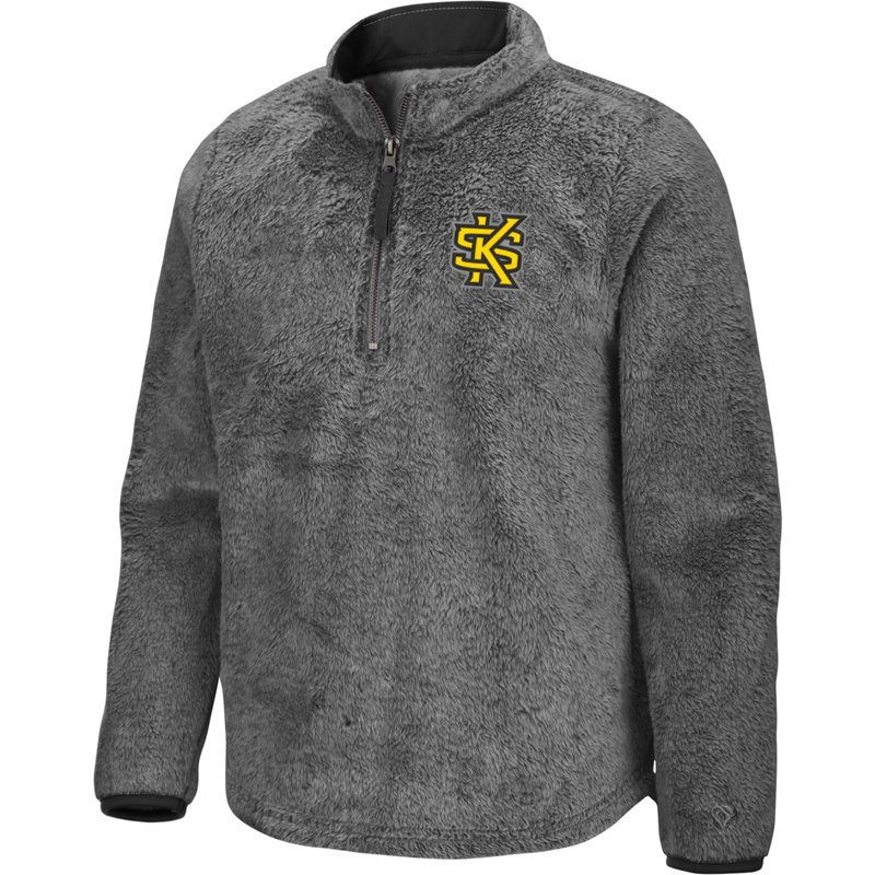 Colosseum Athletics Girls' Kennesaw State University Puffer Fish 1/2 Zip Pullover Gray, Small – NCAA Men's Fleece/Jackets at Academy Sports