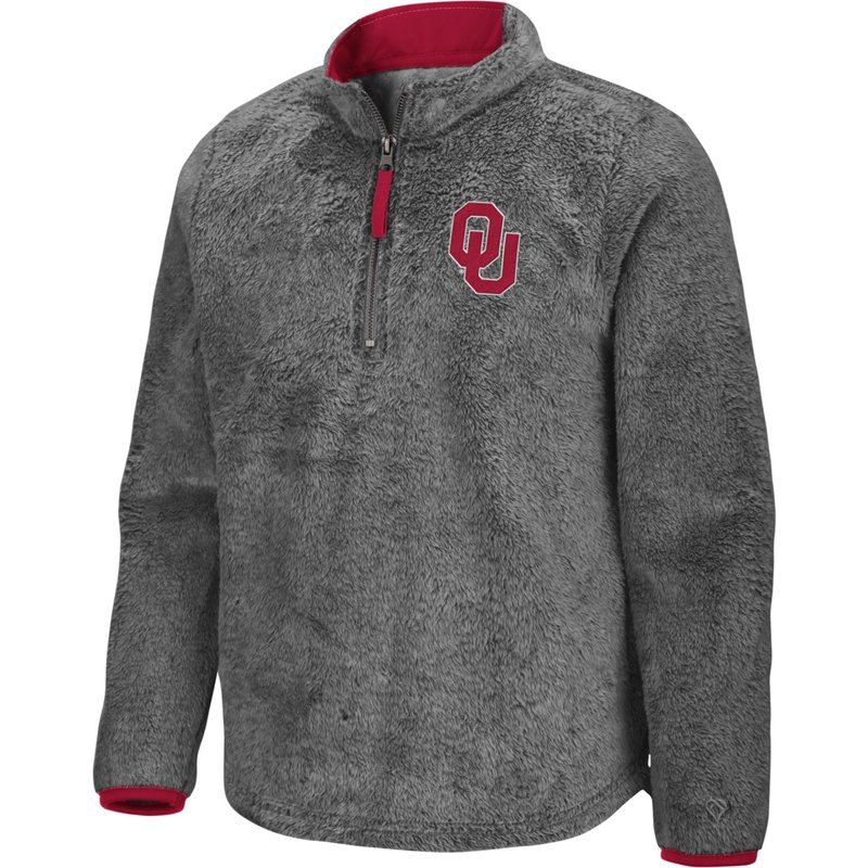 Colosseum Athletics Girls' University of Oklahoma Puffer Fish 1/2 Zip Pullover Gray, Medium – NCAA Men's Fleece/Jackets at Academy Sports