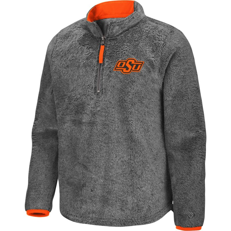 Colosseum Athletics Girls' Oklahoma State University Puffer Fish 1/2 Zip Pullover Gray, Large – NCAA Men's Fleece/Jackets at Academy Sports