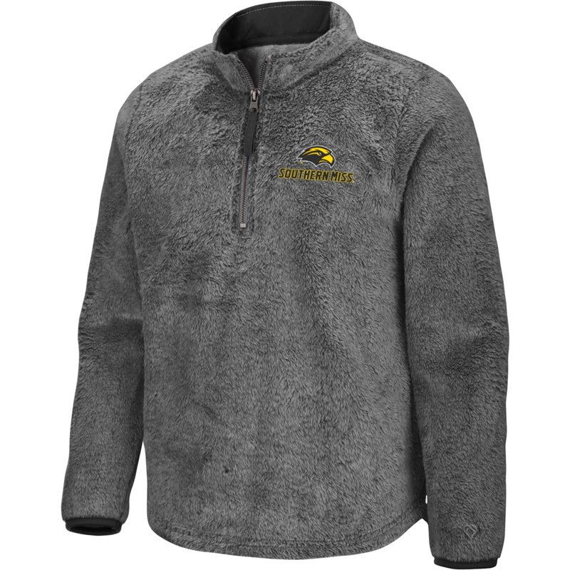 Colosseum Athletics Girls' University of Southern Mississippi Puffer Fish 1/2 Zip Pullover Gray, Medium – NCAA Men's Fleece/Jackets