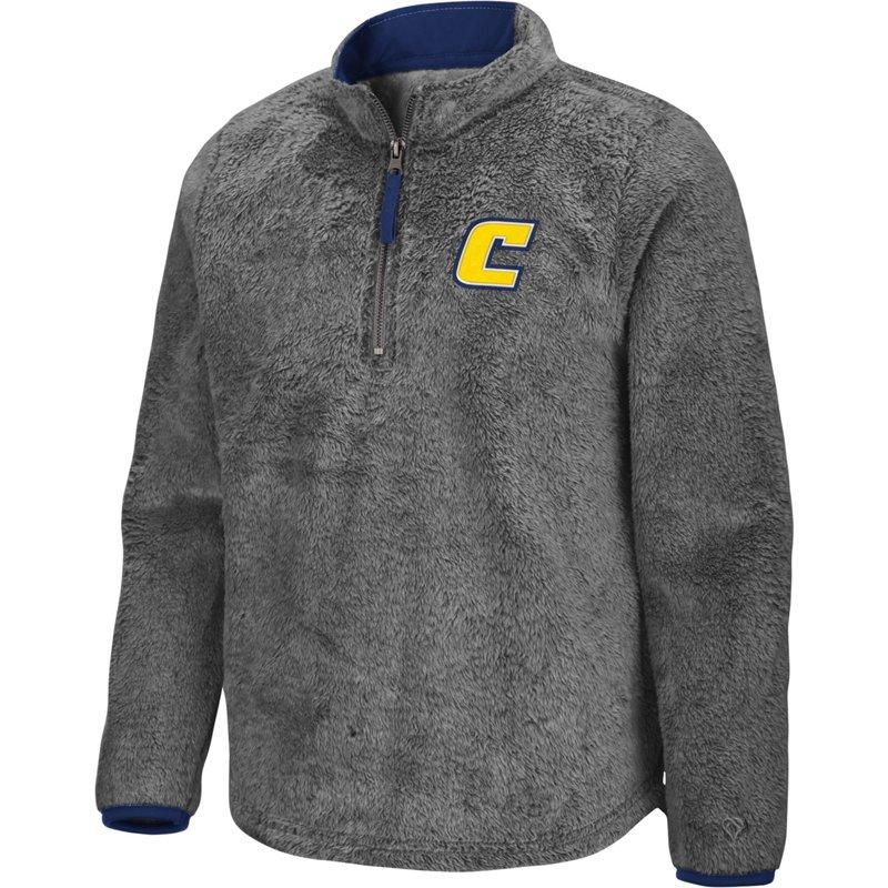Colosseum Athletics Girls' University of Tennessee at Chattanooga Puffer Fish 1/2 Zip Pullover Gray, Medium – NCAA Men's Fleece/Jackets