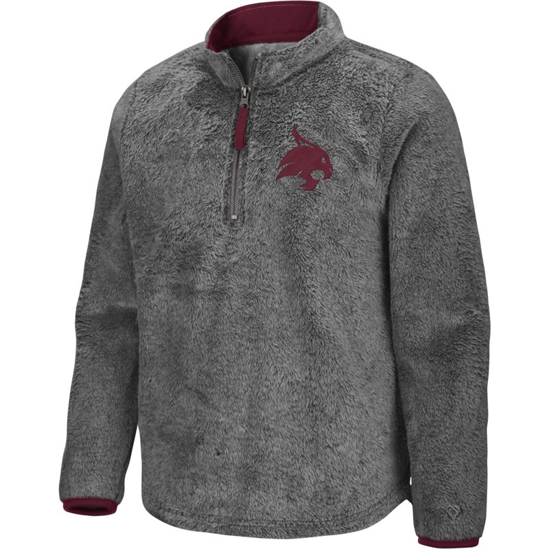 Colosseum Athletics Girls' Texas State University Puffer Fish 1/2 Zip Pullover Gray, Large – NCAA Men's Fleece/Jackets at Academy Sports