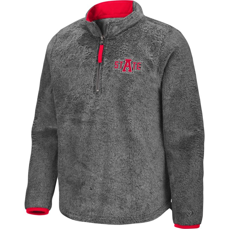 Colosseum Athletics Girls' Arkansas State University Puffer Fish 1/2 Zip Pullover Gray, Large – NCAA Men's Fleece/Jackets at Academy Sports