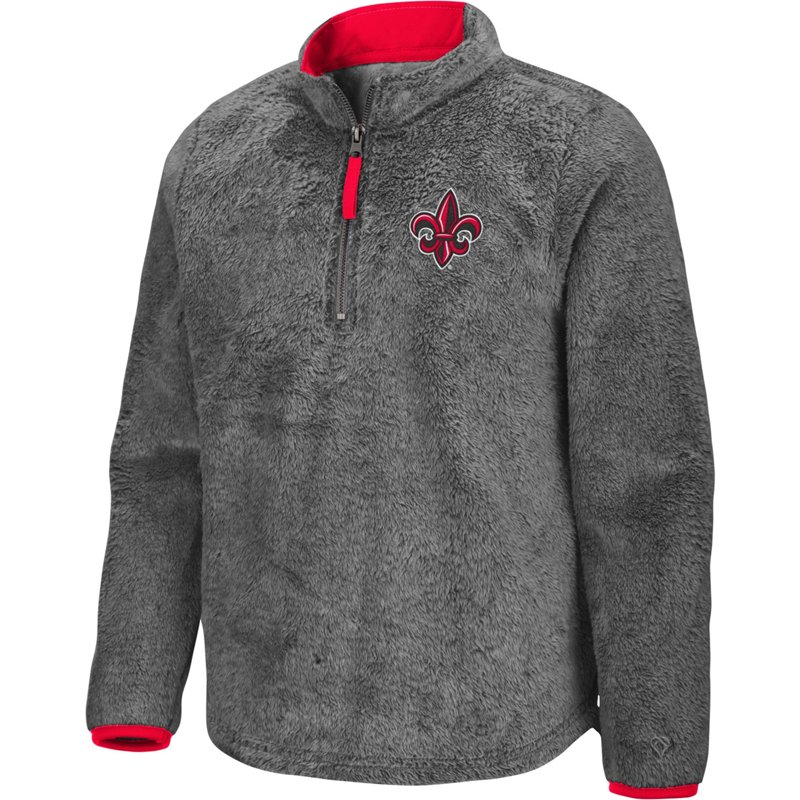 Colosseum Athletics Girls' University of Louisiana at Lafayette Puffer Fish 1/2 Zip Pullover Gray, Medium – NCAA Men's Fleece/Jackets