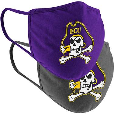 Colosseum Athletics East Carolina University Cotton Face Masks 2-Pack