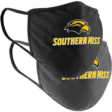 Colosseum Athletics University of Southern Mississippi Cotton Face Masks 2-Pack