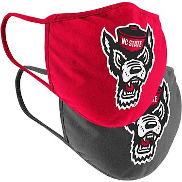 Colosseum Athletics North Carolina State University Cotton Face Masks 2-Pack