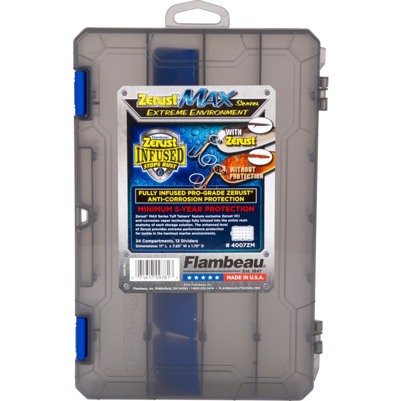 Flambeau Zerust Max Infused Tuff Tainer Tackle Box Clear/Black - Tackle Utility Cases at Academy Sports thumbnail
