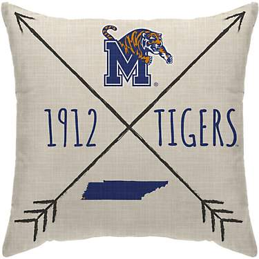 Pegasus Sports University of Memphis Cross Arrow Throw Pillow