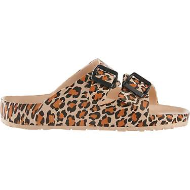 O'Rageous Women's 2-Buckle Cheetah Sport Slides