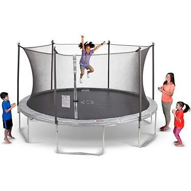 AGame 14 ft Round Trampoline with Enclosure