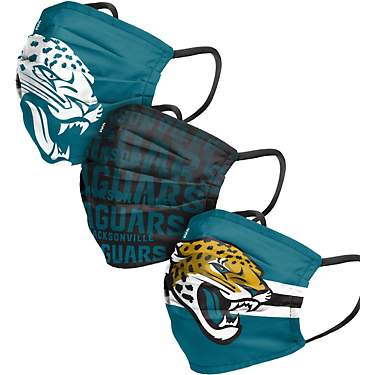 Forever Collectibles Men's Jacksonville Jaguars Matchday Face Covers 3-Pack