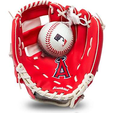 Franklin Youth MLB Los Angeles Angels T-ball Glove and Ball Set