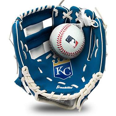 Franklin Youth MLB Kansas City Royals T-ball Glove and Ball Set