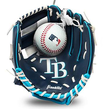 Franklin Youth MLB Tampa Bay Rays T-ball Glove and Ball Set