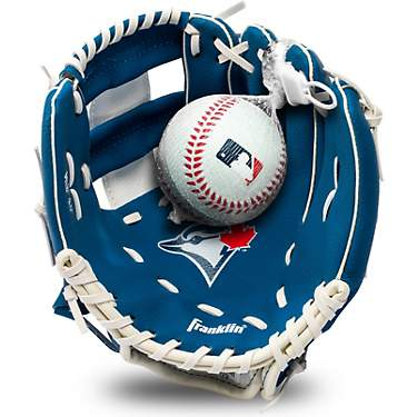 Franklin Youth MLB Toronto Blue Jays T-ball Glove and Ball Set