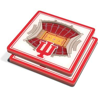 YouTheFan Indiana University 3-D StadiumViews 2-Piece Coaster Set