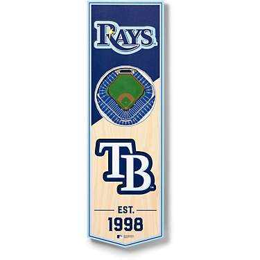 YouTheFan Tampa Bay Rays 6 x 19 in 3-D Stadium Banner