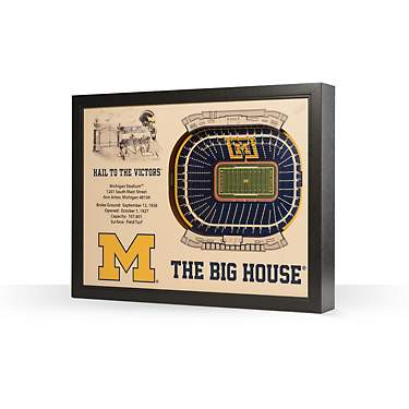 YouTheFan University of Michigan 25-Layer StadiumViews 3-D Wall Art