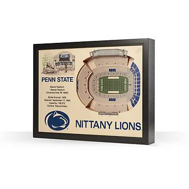 YouTheFan Penn State 25-Layer 3-D Stadium Wall Art